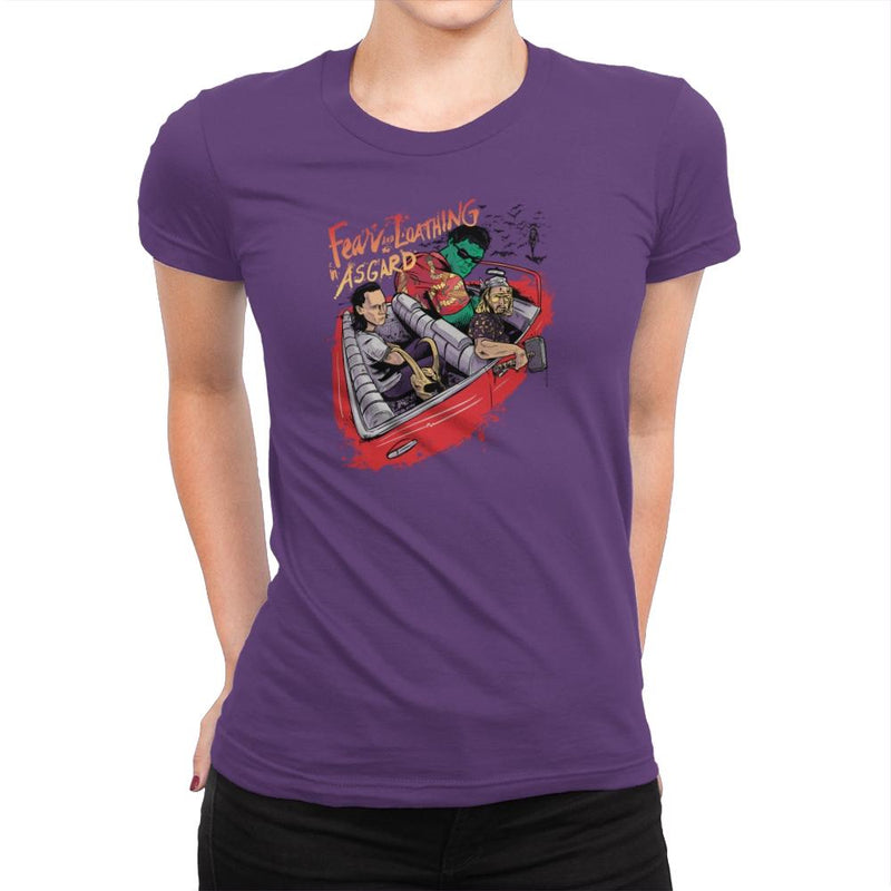 Fear and Loathing in Asgard Exclusive - Womens Premium - T-Shirts - RIPT Apparel