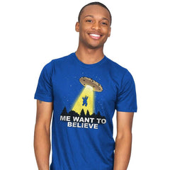 Me Want To Believe - Mens - T-Shirts - RIPT Apparel