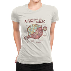 Anatomy of the D20 - Womens Premium - T-Shirts - RIPT Apparel