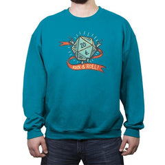 Rock and Rollplay - Crew Neck Sweatshirt - Crew Neck Sweatshirt - RIPT Apparel