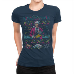 Hap, Hap, Happiest Sweater this Side of the Nuthouse - Ugly Holiday - Womens Premium - T-Shirts - RIPT Apparel