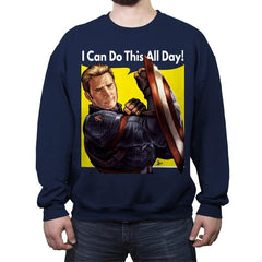 Cap Can Do It! - Crew Neck Sweatshirt - Crew Neck Sweatshirt - RIPT Apparel