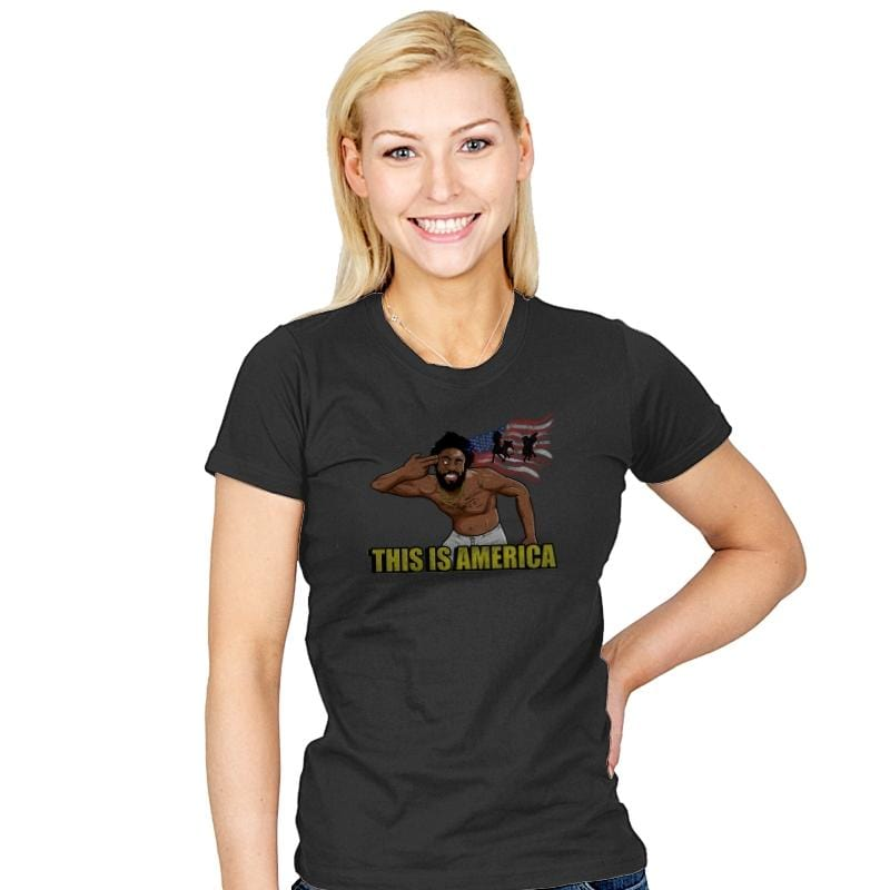Americalands - Womens - T-Shirts - RIPT Apparel