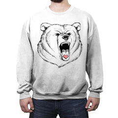 Universal Language Bear Love - Crew Neck Sweatshirt - Crew Neck Sweatshirt - RIPT Apparel