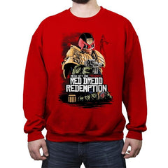 Red Dredd - Crew Neck Sweatshirt - Crew Neck Sweatshirt - RIPT Apparel