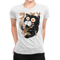 Cat Love Ramen - Womens Premium - T-Shirts - RIPT Apparel