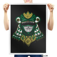 Green Shogun Ranger - Prints - Posters - RIPT Apparel