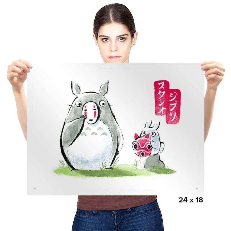 Ghibli ink - Prints - Posters - RIPT Apparel
