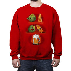 Beer Fusion - Crew Neck Sweatshirt - Crew Neck Sweatshirt - RIPT Apparel
