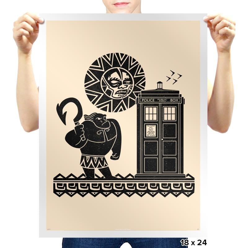 Maui Meets The Doctor - Prints - Posters - RIPT Apparel