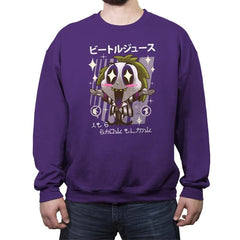 Kawaii Beetle - Crew Neck Sweatshirt - Crew Neck Sweatshirt - RIPT Apparel