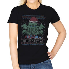 Call Of Christmas - Ugly Holiday - Womens - T-Shirts - RIPT Apparel