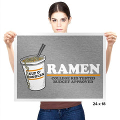 Ramen Budgest Approved Exclusive - Prints - Posters - RIPT Apparel