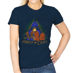 Forest And Chill - Womens - T-Shirts - RIPT Apparel
