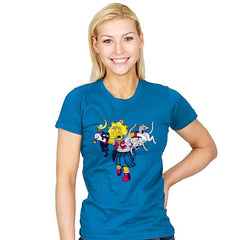 Moon Cat Lady - Womens - T-Shirts - RIPT Apparel
