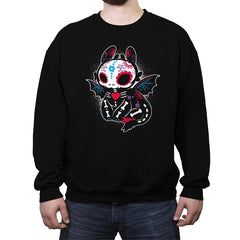 Calavera Fury - Crew Neck Sweatshirt - Crew Neck Sweatshirt - RIPT Apparel