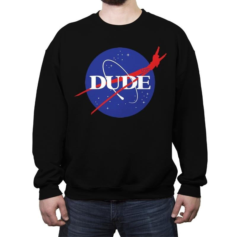Abide Space Agency - Crew Neck Sweatshirt - Crew Neck Sweatshirt - RIPT Apparel