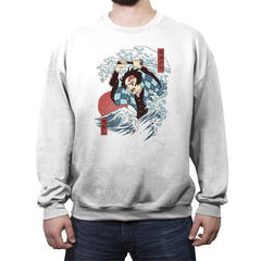 Demons Slayer Ukiyo E - Crew Neck Sweatshirt - Crew Neck Sweatshirt - RIPT Apparel