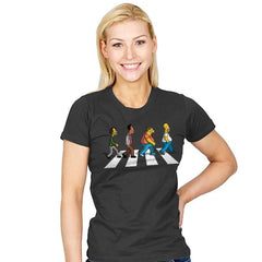 The Moes on Abbey Road - Womens - T-Shirts - RIPT Apparel