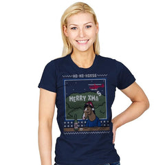 Ho-Ho-Horse! - Ugly Holiday - Womens - T-Shirts - RIPT Apparel
