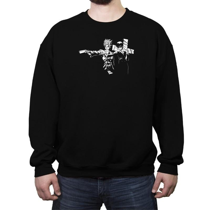 Trigun Fiction Reprint - Crew Neck Sweatshirt - Crew Neck Sweatshirt - RIPT Apparel