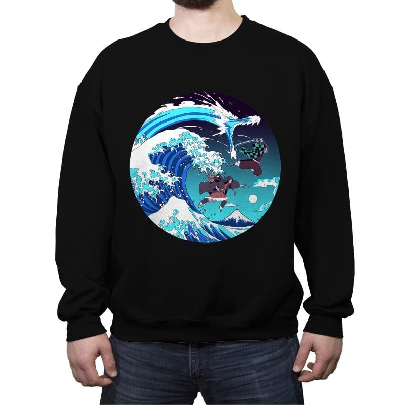 Breath of the Great Wave - Crew Neck Sweatshirt - Crew Neck Sweatshirt - RIPT Apparel