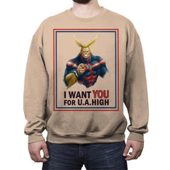 Join U.A. High  - Crew Neck Sweatshirt - Crew Neck Sweatshirt - RIPT Apparel