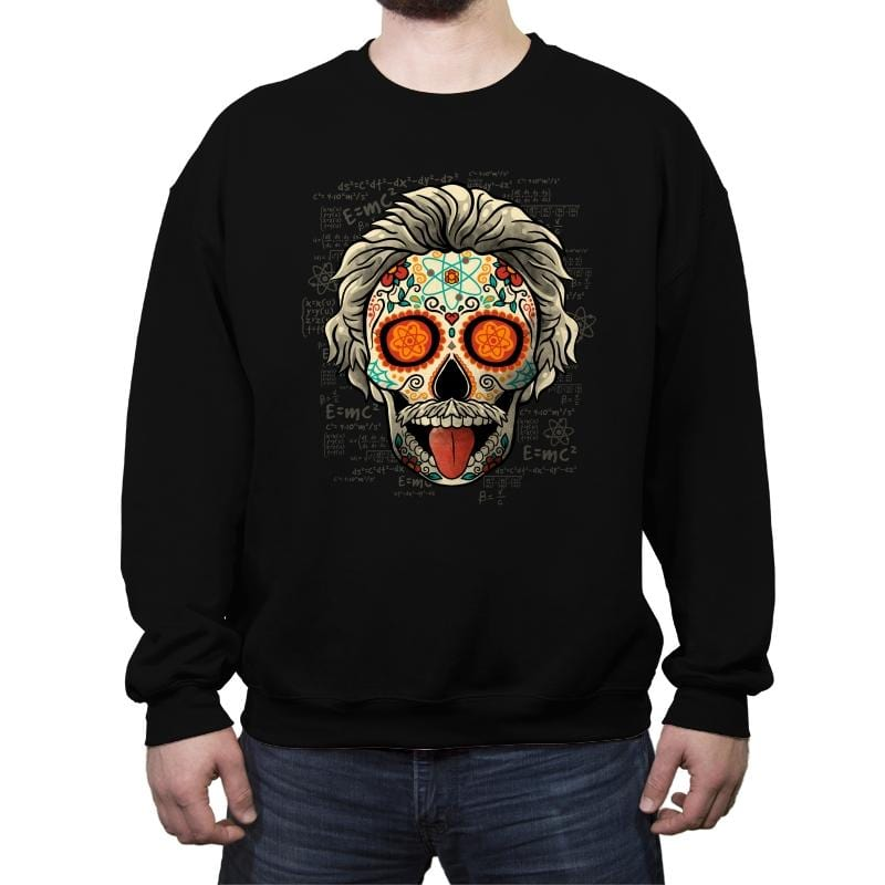 Calavera Einstein - Crew Neck Sweatshirt - Crew Neck Sweatshirt - RIPT Apparel