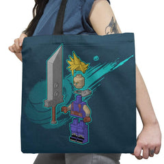 The Blocky Hero of Midgar Exclusive - Tote Bag - Tote Bag - RIPT Apparel