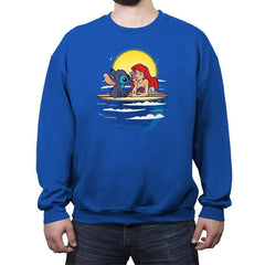 Aloha Mermaid - Crew Neck Sweatshirt - Crew Neck Sweatshirt - RIPT Apparel