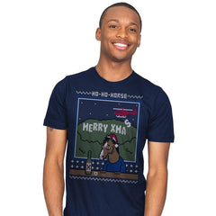 Ho-Ho-Horse! - Ugly Holiday - Mens - T-Shirts - RIPT Apparel