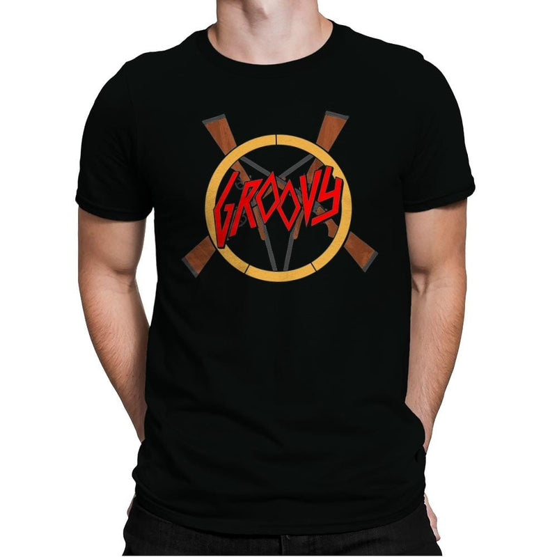 Groovy Demon Slayer - Mens Premium - T-Shirts - RIPT Apparel