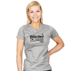 Fancy Bearded Hipster - Womens - T-Shirts - RIPT Apparel