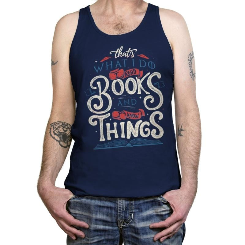 I Read Books - Tanktop - Tanktop - RIPT Apparel