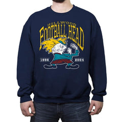 Football Head - Crew Neck Sweatshirt - Crew Neck Sweatshirt - RIPT Apparel