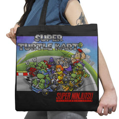 Super Turtle Kart Exclusive - Tote Bag - Tote Bag - RIPT Apparel