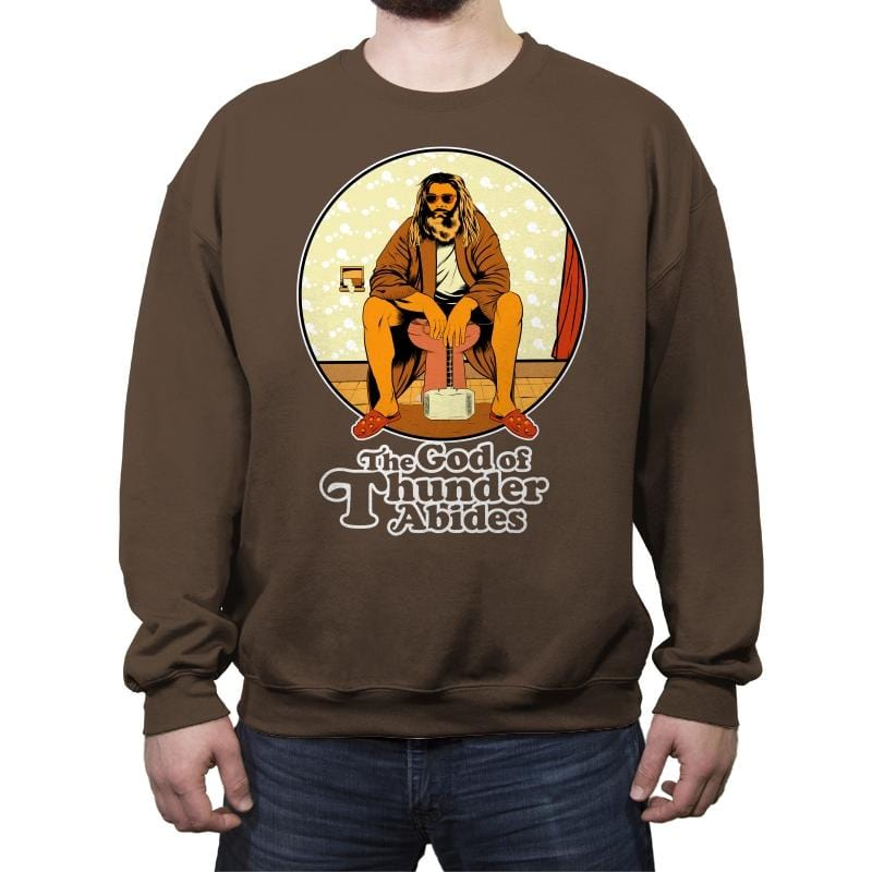 The God of Thunder Abides - Anytime - Crew Neck Sweatshirt - Crew Neck Sweatshirt - RIPT Apparel