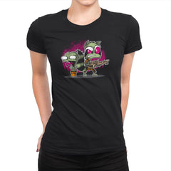 Invaders of the Galaxy Part 1 Exclusive - Awesome Mixtees - Womens Premium - T-Shirts - RIPT Apparel