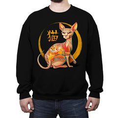 Yakuza Cat - Crew Neck Sweatshirt - Crew Neck Sweatshirt - RIPT Apparel