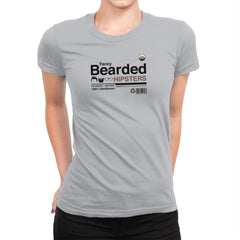 Fancy Bearded Hipster - Womens Premium - T-Shirts - RIPT Apparel