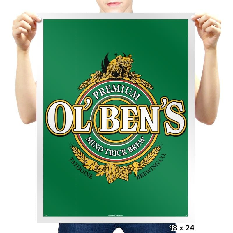 Ol Ben's Mind Trick Brew Exclusive - St Paddys Day - Prints - Posters - RIPT Apparel