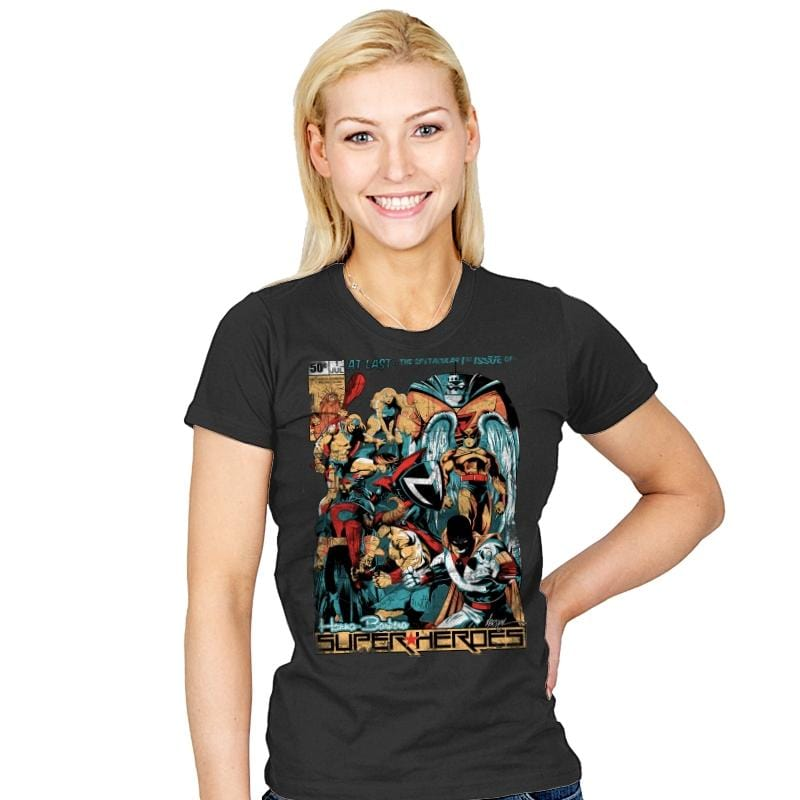 H.B. Super Heroes - Best Seller - Womens - T-Shirts - RIPT Apparel