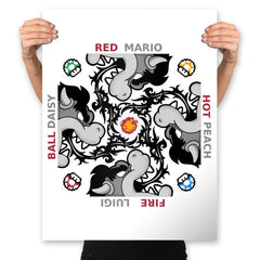 Red Hot Fire Ball - Prints - Posters - RIPT Apparel