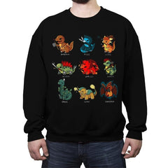 Dinosaur Role Play - Crew Neck Sweatshirt - Crew Neck Sweatshirt - RIPT Apparel