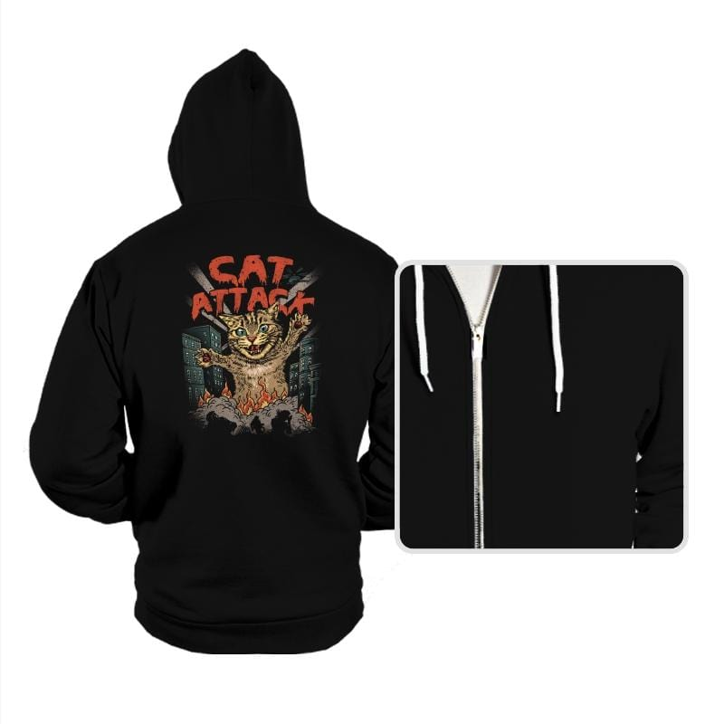 Cat Attack - Hoodies - Hoodies - RIPT Apparel