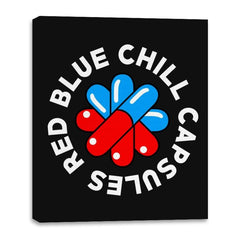 Red Blue Chill Capsules - Canvas Wraps - Canvas Wraps - RIPT Apparel