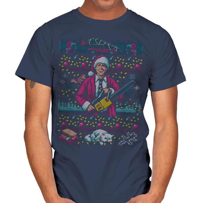Hap, Hap, Happiest Sweater this Side of the Nuthouse - Ugly Holiday - Mens - T-Shirts - RIPT Apparel