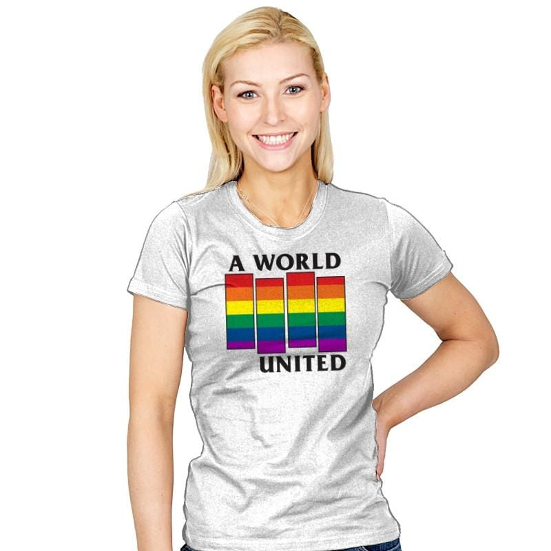 A World United Exclusive - Pride - Womens - T-Shirts - RIPT Apparel