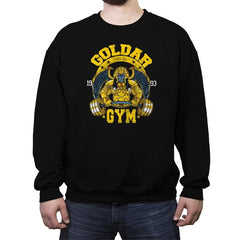 Goldar Gym - Crew Neck Sweatshirt - Crew Neck Sweatshirt - RIPT Apparel