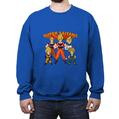 Super Saiyans - Crew Neck Sweatshirt - Crew Neck Sweatshirt - RIPT Apparel